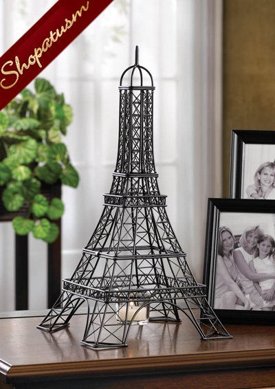 Eiffel Tower Centerpiece Metalwork Sculpture Candle Holder