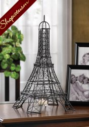 24 Metalwork Sculpture Centerpieces Eiffel Tower Candle Holders