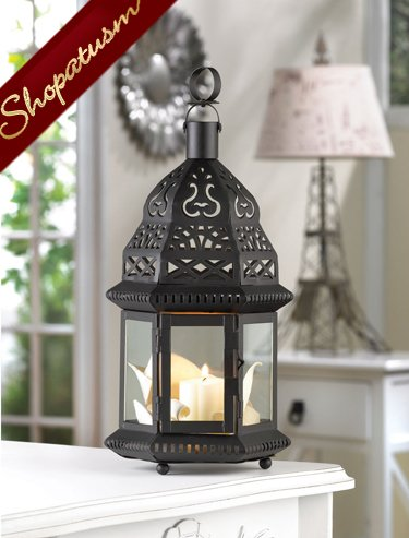 10 Centerpieces Starlight Black Metal Moroccan Birdcage Lanterns