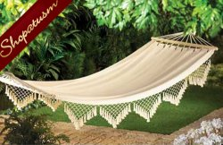 Cape Cod Outdoor Yard Recycled Cotton Canvas Hammock