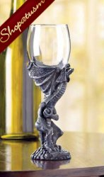 Medieval Dragon Glass Goblet Majestic