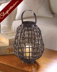 12 Wholesale Lanterns, Brown Centerpieces, Rattan Pear Shaped Lanterns, Bulk Lot