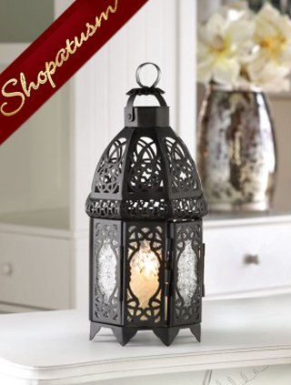 48 Black Lattice Cage Style Candle Lanterns Centerpieces Wholesale