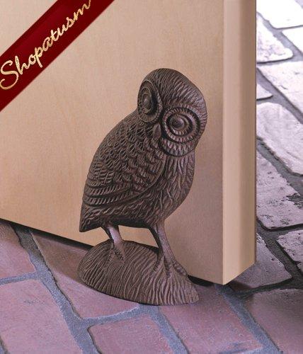 Charming Cast Iron Owl Door Stopper