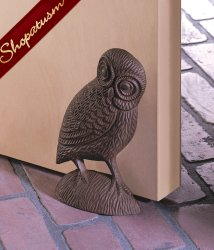 Charming Cast Iron Owl Door Stopper