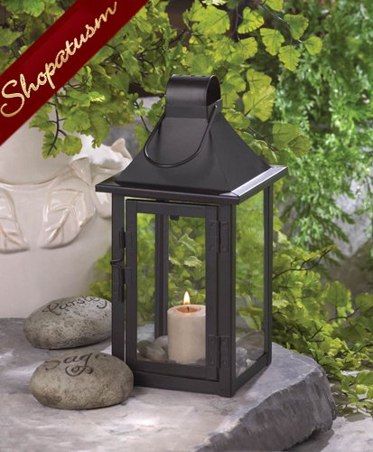 Small Wedding Centerpiece Carriage House Black Lantern
