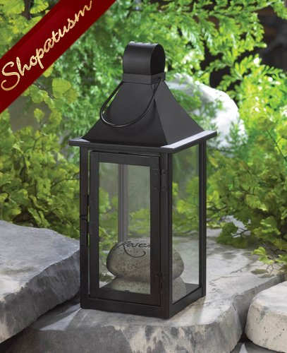 24 Carriage House Black Lanterns Large Wedding Centerpieces