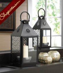 36 Black Metal Swirl Candle Lanterns Small Wedding Centerpieces