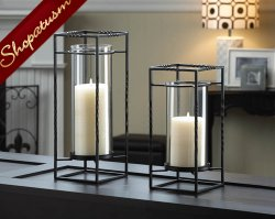Ballast Wedding Centerpiece Candle Stand Duo Hurricane Lantern