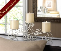 12 Candelabras San Marino Candle Stands Centerpieces White Tuscan