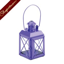 24 Candle Lanterns Purple Wedding Centerpieces Railroad Style