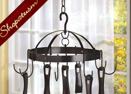 Kitchen Mini Round Pot Hanger Hanging Pot Rack Organizer