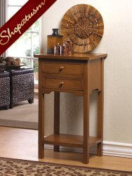 Rich Brown Wooden Side Table End Table Night Stand