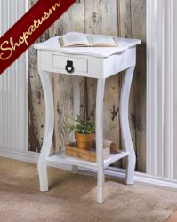 White Gloss Manhattan Accent Table End Hall Table Night Stand