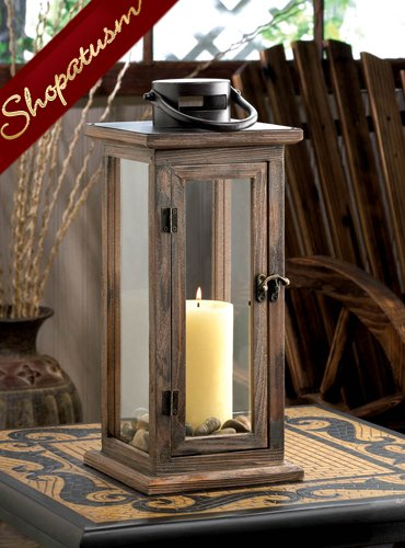 24 Hanging Candle Lanterns Rustic Lodge Centerpieces Stained Wood