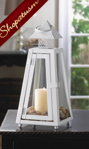 24 Candle Lanterns Summit White Metal Wedding Centerpieces Cottage