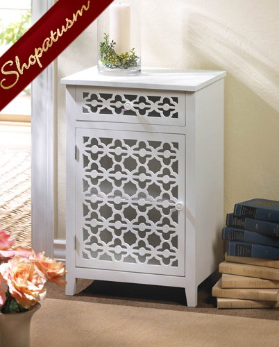 Bathroom Meadow Lane White Wood Storage Cabinet