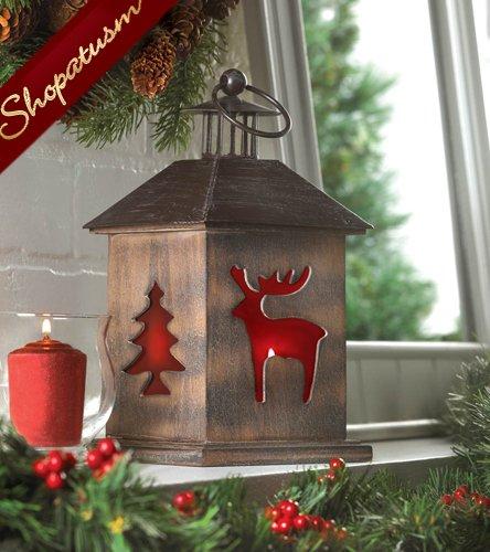Christmas wholesale lanterns rustic cabin centerpieces
