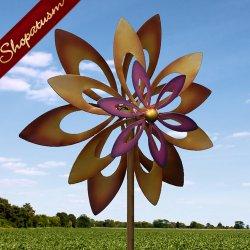 Artistic Iron Dancing Sunflower 7 foot Garden Windmill
