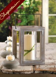 24 Candle Lanterns Rustic Wood Wedding Centerpieces Weathered