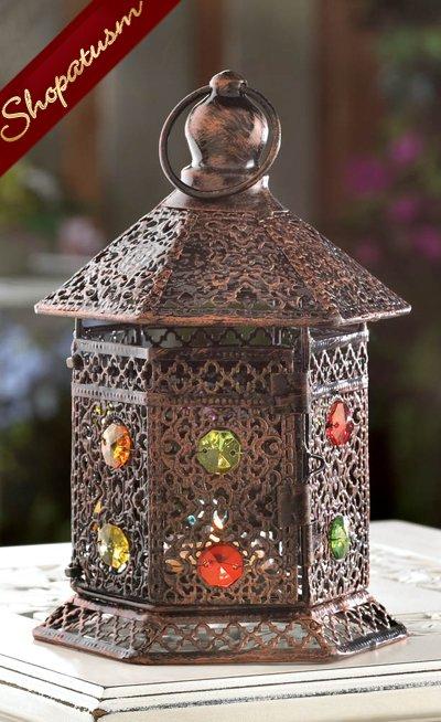 Wholesale centerpieces copper lanterns bejeweled wedding