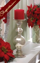 30 Centerpieces Mercury Glass Candle Stands Silver Wedding