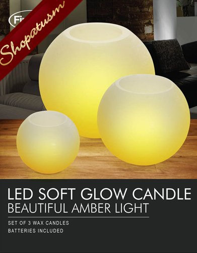 20 Sets Round Candles Flameless Candles Amber Light Centerpiece LED