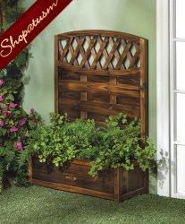 Beautiful Decorative Garden Planter Trellis Fir Wood Planter Box