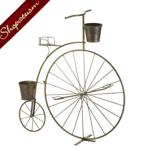 Vintage Charm Planter High Wheel Bicycle Garden Planter