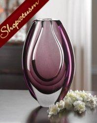 Art Glass Vase Wild Orchid Hues Decorative Vase Centerpiece