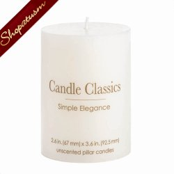 Unscented White Candle Classics Pillar Candle