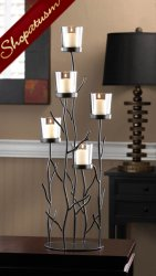 12 Wholesale Dramatic Black Iron Large Centerpiece Twig Candelabra