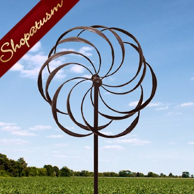 Dancing Pinwheel Outdoor Garden Art Windmill
