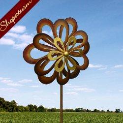 Artistic Dancing Daisy Outdoor Garden Art Windmill