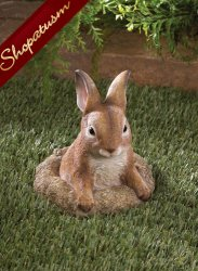 Garden Statue Curious Bunny Outdoor Garden Sculpture