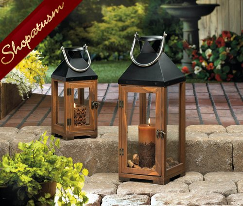 36 Large Wood Candle Lanterns Wholesale Bellon Wedding Centerpieces