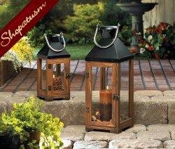 Small Bellon Wedding Centerpiece Wholesale Wood Candle Lantern