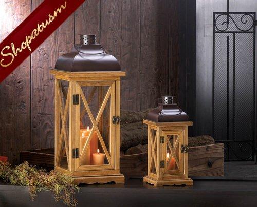 12 Wholesale Lanterns, Small Wood Centerpieces, Hampton Lanterns ...
