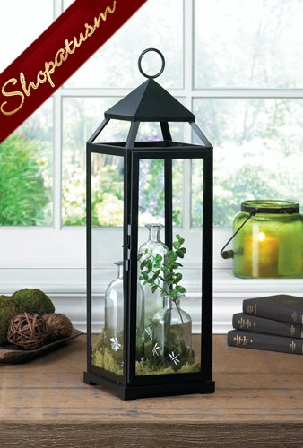 Milani Super Large Black Wedding Centerpiece Showcase Candle Lantern