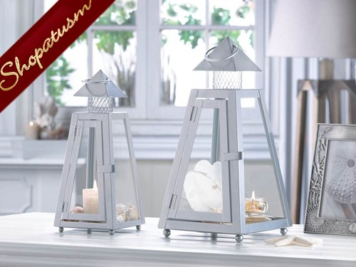 Tribeca wedding centerpiece gray pyramid small lantern