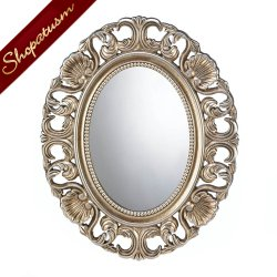 Gilded Oval Ornate Wall Mirror Bathroom Bedroom Mirror