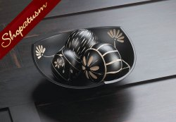 Artisan Wood Tri-Point Black Bowl Decorative Ball Set