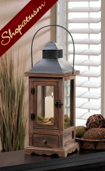 48 Centerpieces Small Wood Candle Lanterns Rustic Pine Wood