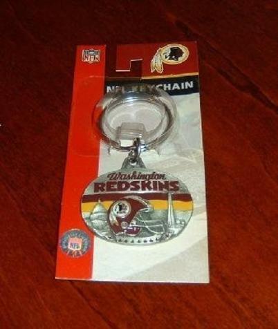 NFL Washington Redskins Oval Pewter Keychain Key Chain