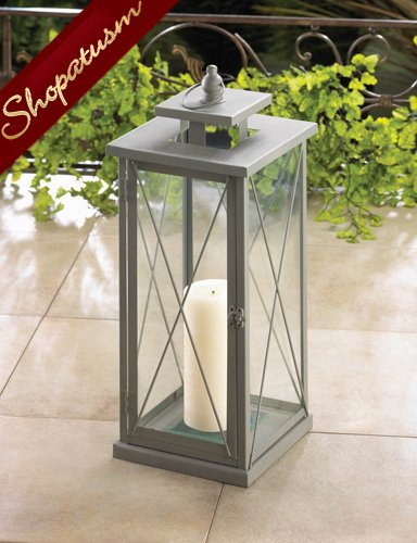 Large Garden Centerpiece Gray Marnar Candle Lantern
