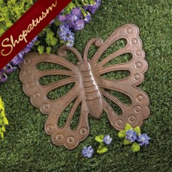 Butterfly Cast Iron Stepping Stone Garden Yard Art