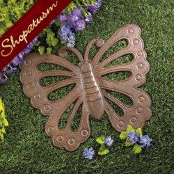 Beautiful Butterfly Cast Iron Garden Stepping Stone