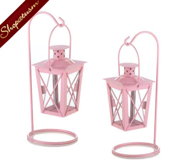 60 x 2 Hanging Candle Lanterns Wedding Centerpieces Wholesale Pink