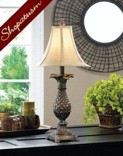 Pineapple Table Lamp Neutral Collapsible Shade