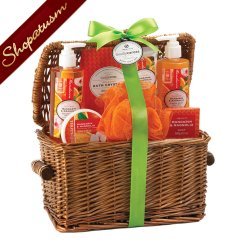 Gift Basket, Spa Gift Basket, Mandarin and Magnolia Bath Set, Bath Gift Set